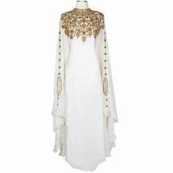 White Ladies Caftan Gown