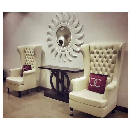 Off White High Back Designer Chair Rs 40000 Piece
