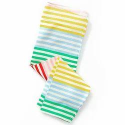 Multicolor Horizontal Stripe Style Leggings