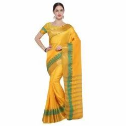 Leemboodi Fashion Maheshwari Kota Silk Lining Pattern Casual Saree