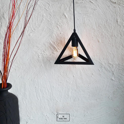 Incandescent Iron Black Equilateral Ceiling Lamp