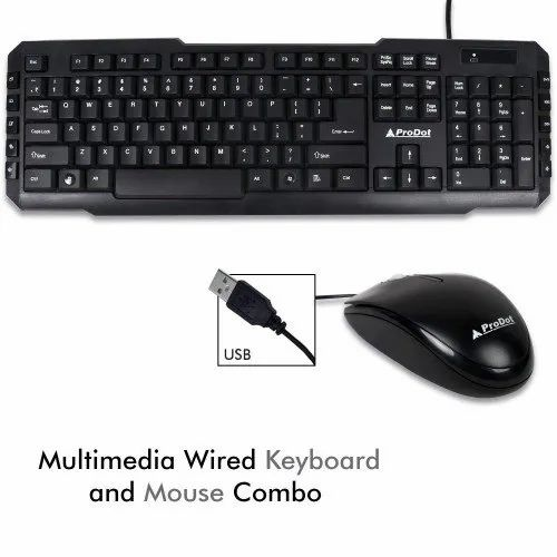 9e125602799 Prodot Wired USB Keyboard Mouse Combo Trc-107 273 at Rs 300 /piece ...