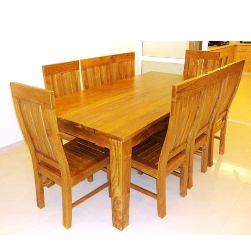 Brown Solid Teakwood Dining Table 6 Seater Rs 26500 Set Id
