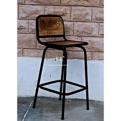 Vintage Indian Furniture - Industrial Bar Stool Chair