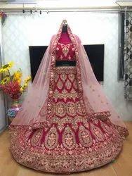 Kjivan Unstitched Lehenga Choli, Net, Size: Free Size