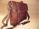 Rustic Vintage Leather Laptop Shoulder Bag