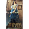 Georgette Printed Peplum Anarkali Suits