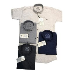 Greed Cotton Mens Plain HOSIERY SHIRTS, Size: M-XL