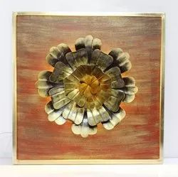 CNC Wall Art Marigold Flower On Panel, For Wall Decoration, Size: 36*36