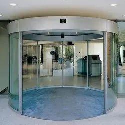 7ft Glass Automatic Revolving Door