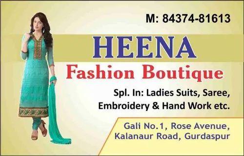 Fashion Ladies Fashion Visiting Card