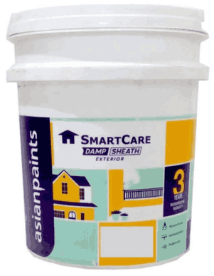 White Waterproofing Coating Asian Paints Smartcare Damp Sheath Exteriors Rs 180 Litre Id 20404907830