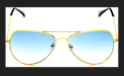 Male Oval Aviator With Golden Frame