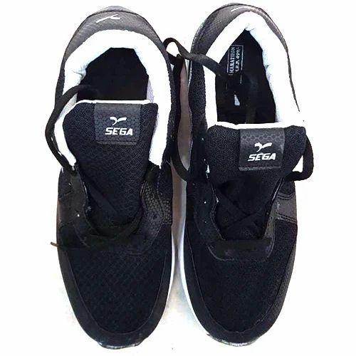 Sega Black Sport Shoes, Size: 6-10, Rs