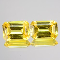 Octagon Yellow Sapphire