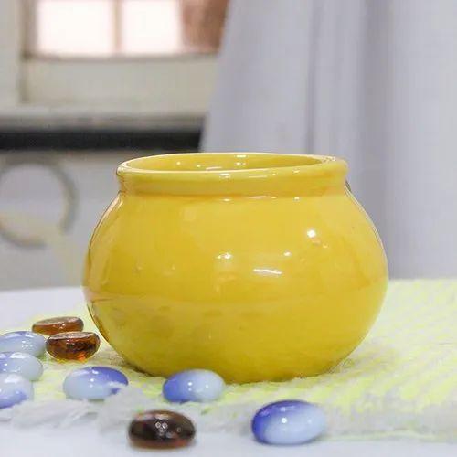 Printed Ceramic Pot, For Interior Decor