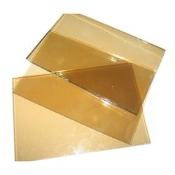 Golden Reflective Toughened Glass