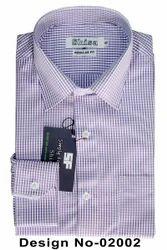 Shisa Purple Small Checks Regular Fit Shirt