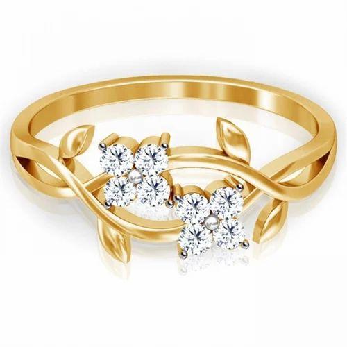 Designer Diamond And Yellow Gold Rings