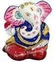 Metal Meenakari Ramayan Ganesha Statue God Idol Sculpture