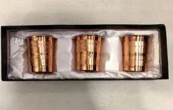 Box Copper Glass Set, 3, Size: Custom