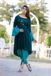 Embroidered Kurti With Dhoti