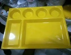 Acrylic 6 Compartment Plate