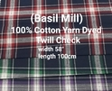 Yarn Dyed Twill Check (Basil Mill)