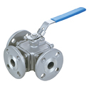Flanged End 3 Way Ball Valves