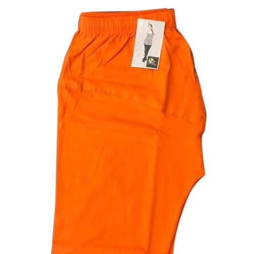 Real Dream Casual Wear Super Cotton Orange Plain Ankle Leggings, Size: S-XXL