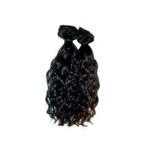 Rigved Black Wavy Weft Hair, for Personal