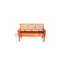 Cane Woven Lattice Work Benches