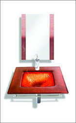 SPARKLE Texture Color Glass Wash Basin Full Set