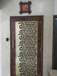 Silver Exterior Main Door Laser Cutting Jaali, in PUNE