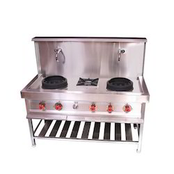Chinese With Soup Burner, Burner Material: Commercail, Number Of Knob: 3