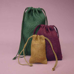 Colored Jute Pouch Bag