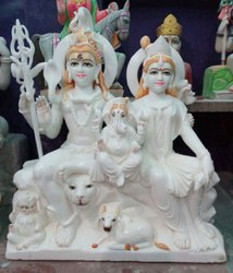 3 Fit Marble Shiv Parvati