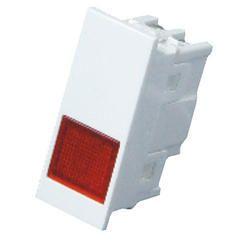6 Amp White 1 Module Indicator - Premium, for Home, Finishing Type: Glossy Finish