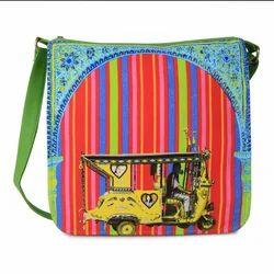 Trendy Floral Gateway Canvas PU Sling Bag