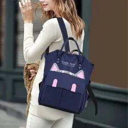 Polka Tots Diaper Backpack, Mother Diaper Bag Cat Design