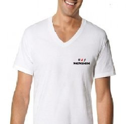 Plain Mens V Neck PV T Shirt