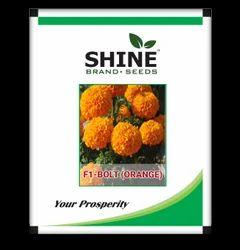 Shine Brand Seeds Hybrid Marigold Seeds - F1 Bolt (Orange), for Farming