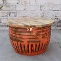 Cafe Furniture - Round Coffee Table - Rustic & Vintage Furniture - Restaurant Tables - Bar Tables