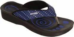 Daily Wear PVC Aeroblu Women Flip Flops Slippers Chappals Plain, Size: 5 To 10