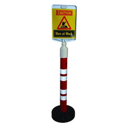 Plastic Bollard With Message Plate