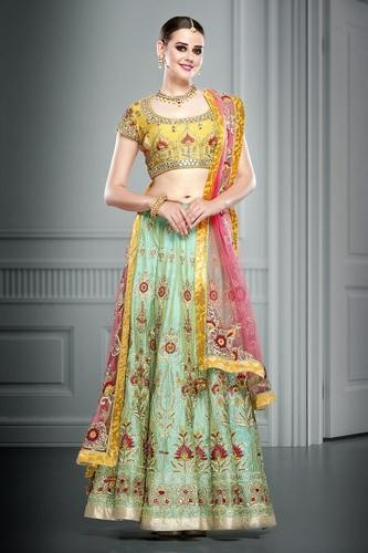 7c1296608b Party Wear Kundan Work Net Lehenga Choli, Rs 4000 /piece, Anant ...