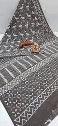 Exclusive Bagru Hand Block Printed Cotton Saree.