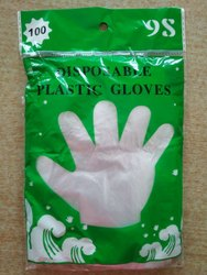 280 MM Mid forearm Disposable Plastic Gloves, Size: S-XL