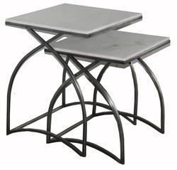 Stain Less Steel Square Side Table, Packaging Type: Carton
