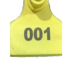 Yellow Sheep Mini Ear Tag, Packaging Type: Packet